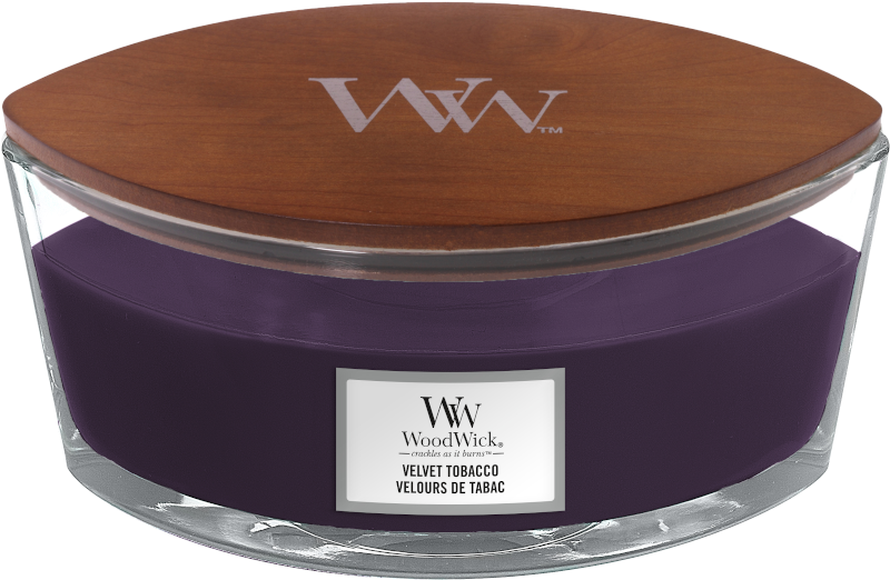 WoodWick Velvet Tobacco Ellipse Candle