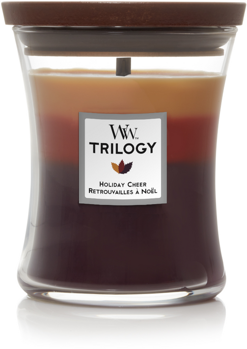 WoodWick Holiday Cheer Trilogy Medium Candle