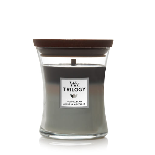 Woodwick Mountain air Trilogy Medium Candle