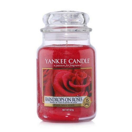Yankee Candle Raindrops on Roses Geurkaars Limited Edition