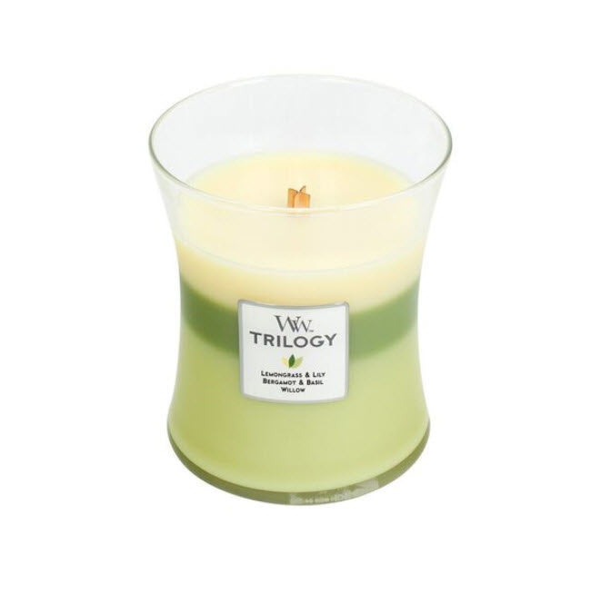 WoodWick Garden Oasis Trilogy Medium Candle
