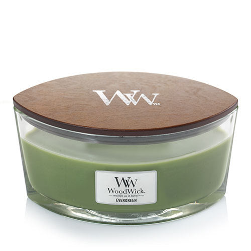 WoodWick Evergreen Ellipse Candle