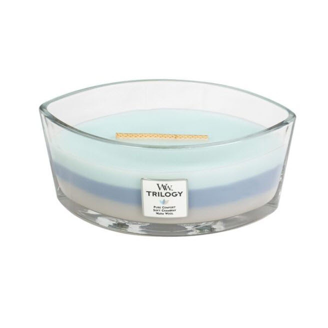 Woodwick Woven Comfort Trilogy Ellipse Candle