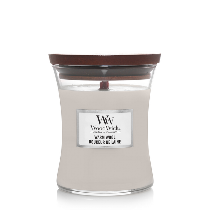 WoodWick Warm Wool Medium Candle