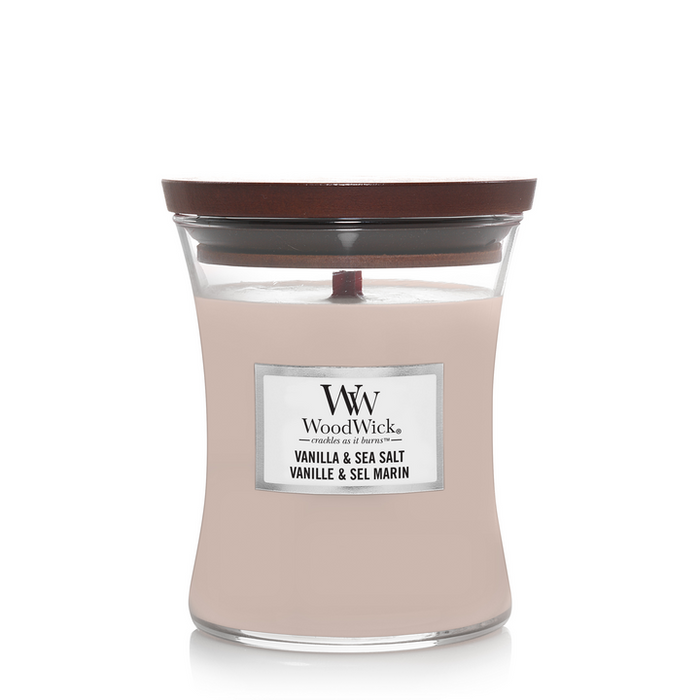 WoodWick Vanilla & Sea Salt Medium Candle