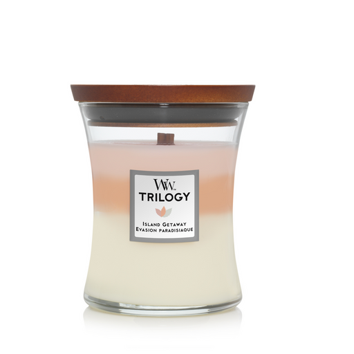 WoodWick Island Getaway Trilogy Medium Candle