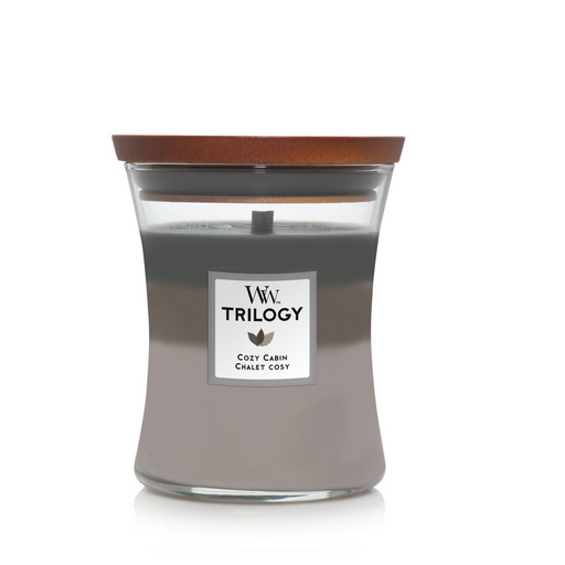 WoodWick Cozy Cabin Trilogy Medium Candle