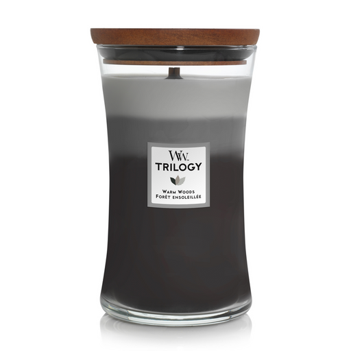 WoodWick Warm Woods Trilogy Large Candle