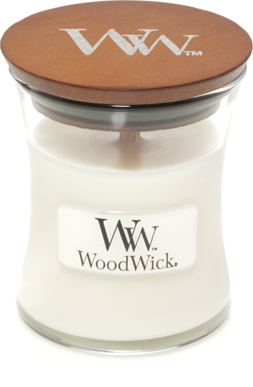 Woodwick White Teak Mini Candle