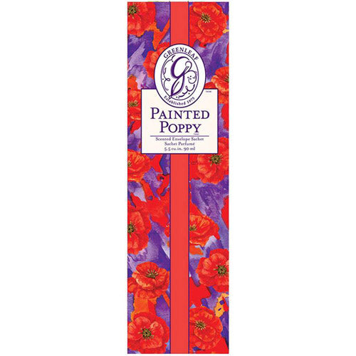 Greenleaf Painted Poppy Slim Sachet