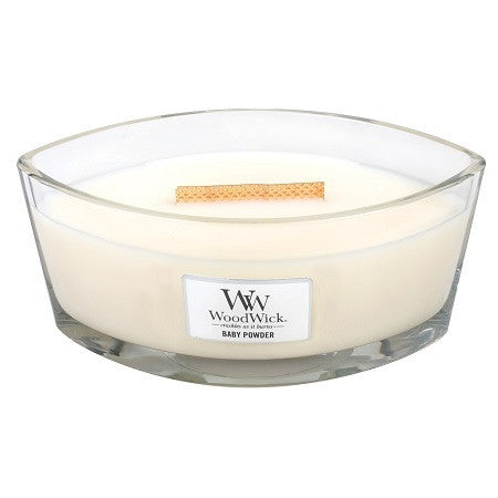 WoodWick Baby Powder Ellipse Candle