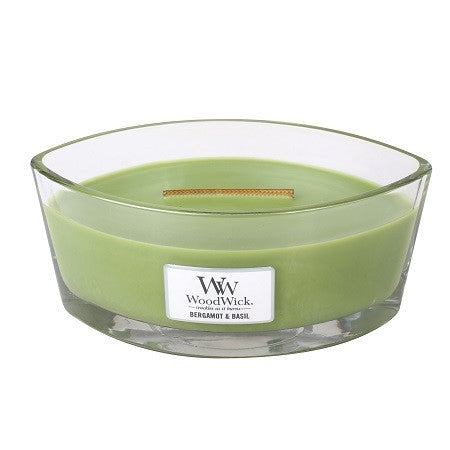 WoodWick Bergamot & Basil Ellipse Candle
