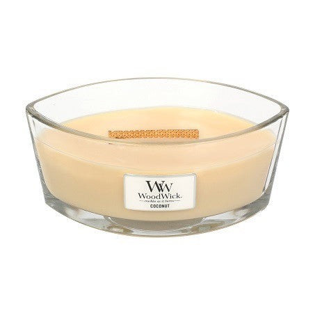 Coconut Ellipse WoodWick HeartWick Candle