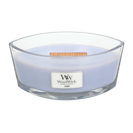 Lilac Ellipse WoodWick HeartWick Candle