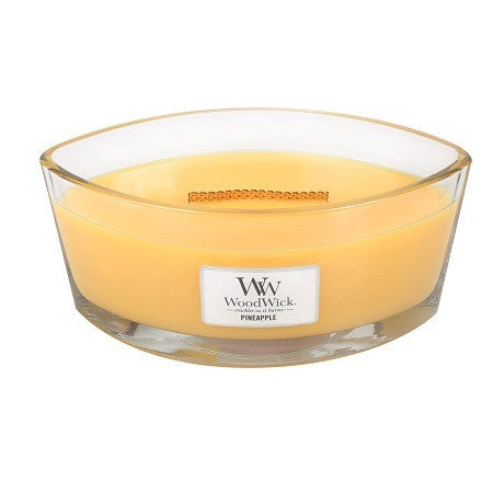 Pineapple Ellipse WoodWick HeartWick Candle