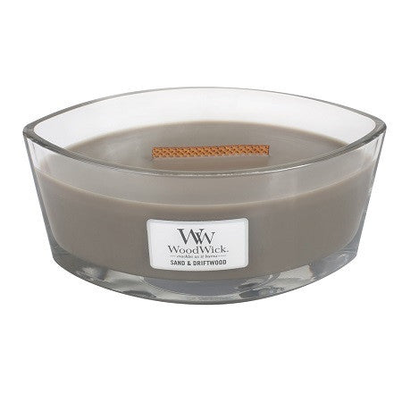 Sand & Driftwood Ellipse WoodWick HeartWick Candle