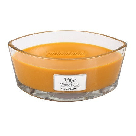 WoodWick Sea salt Caramel Ellipse Geurkaars