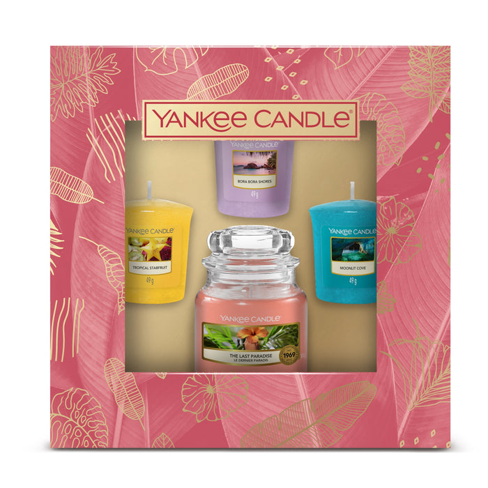 Yankee Candle The Last Paradise 1 Small Jar & 3 Votive Giftset
