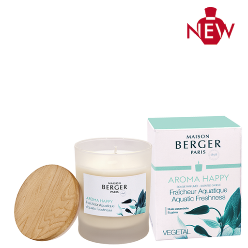 Maison Berger Aroma Happy Fraicheur Aquatique Bougie Geurkaars