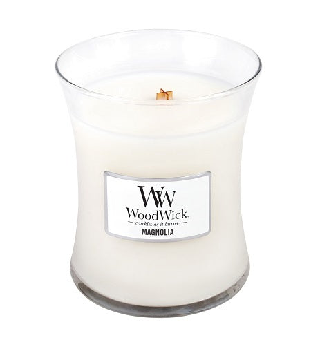 WoodWick Magnolia Medium Geurkaars