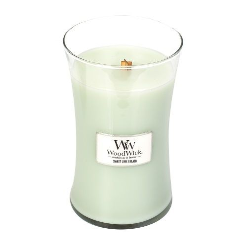 WoodWick Sweet Lime Gelato Large Geurkaars