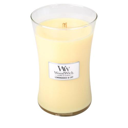 WoodWick Lemongrass & Lily Large Geurkaars
