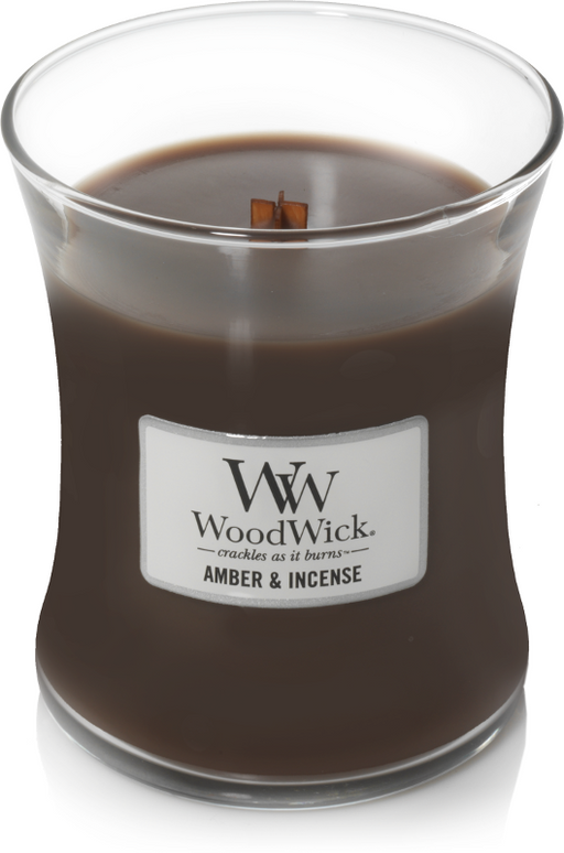 Woodwick Amber & Incense Medium Candle