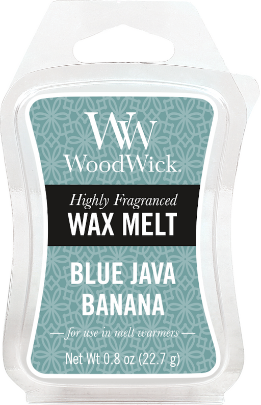 Woodwick Blue Java Banana Mini Wax Melt