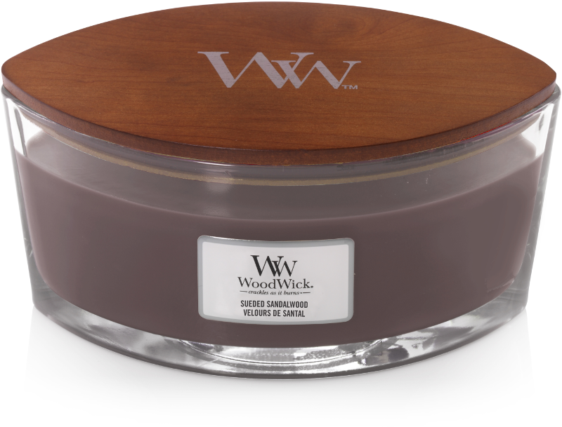 Woodwick Sueded Sandalwood Ellipse Candle