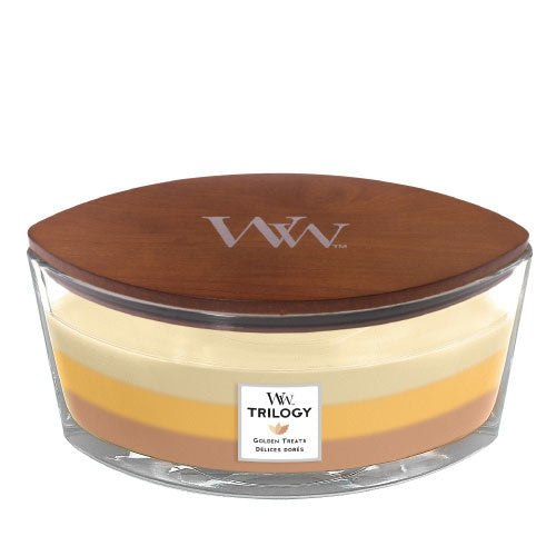 WoodWick Golden Treats Trilogy Ellipse Candle