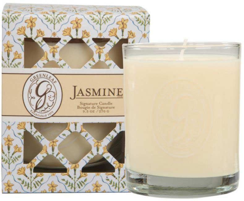 Greenleaf Jasmine Box Jar Candle
