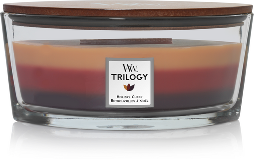 WoodWick Holiday Cheer Trilogy Ellipse Candle