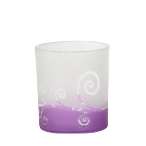 Yankee Candle Purple Scroll Votive Holder