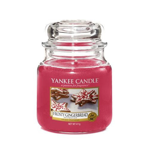 Yankee Candle Frosty Gingerbread Medium Jar Geurkaars