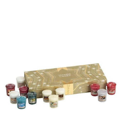 Yankee Candle Holiday Sparkle 12 Votive Candle Gift Set