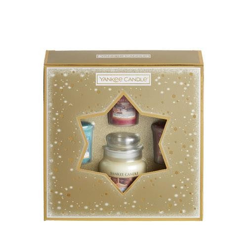 Yankee Candle Holiday Sparkle 3 Votive Candle & Small Jar Gift Set
