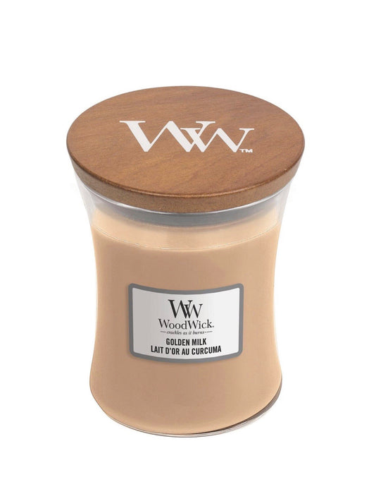 WoodWick Golden Milk Medium Candle