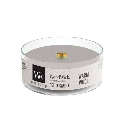 Woodwick Warm Wool Petite Candle