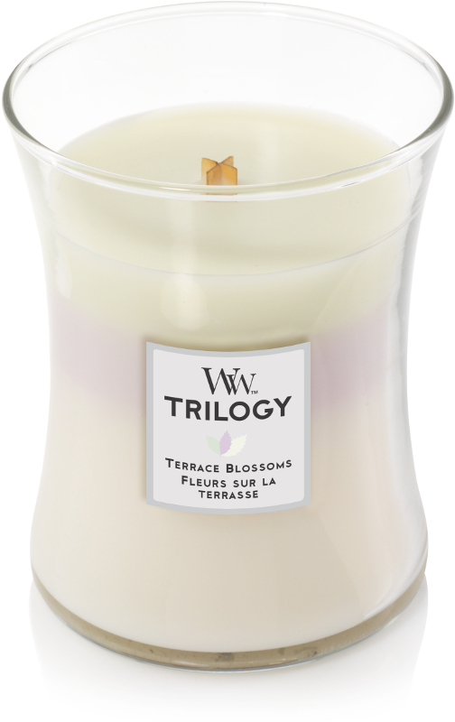 WoodWick Terrace Blossoms Trilogy Medium Candle