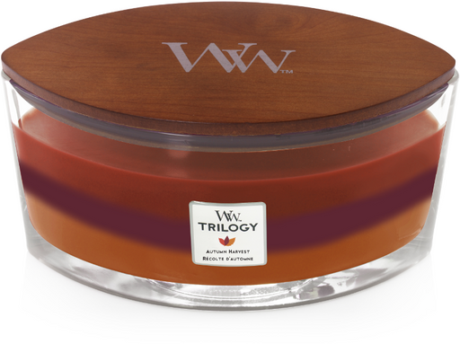 WoodWick Autumn Harvest Trilogy Ellipse Candle