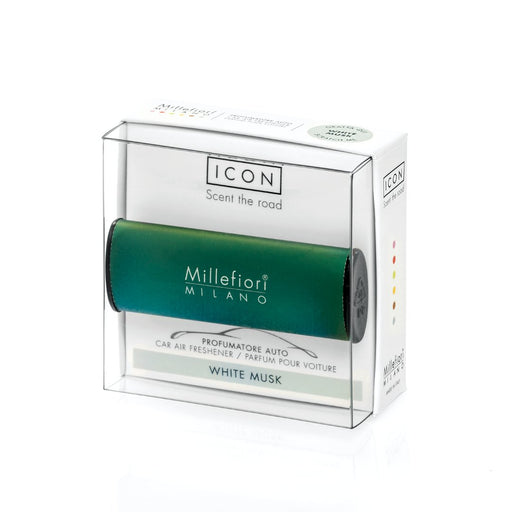 "Millefiori Milano Car Air Freshener Icon ""Classic"" Green - White Musk"