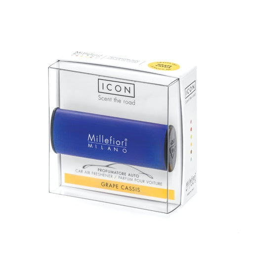 Millefiori Milano Car Air Freshener Icon Classic Blu Scuro Grape Cassis