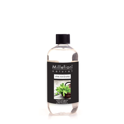 Milefiori Milano Refill For Stick Diffuser 500 ml White Mint & Tonka