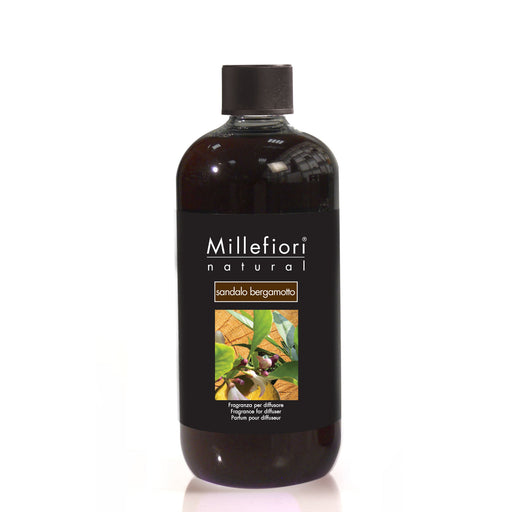 Milefiori Milano Refill For Stick Diffuser 500 ml Sandalo Bergamotto