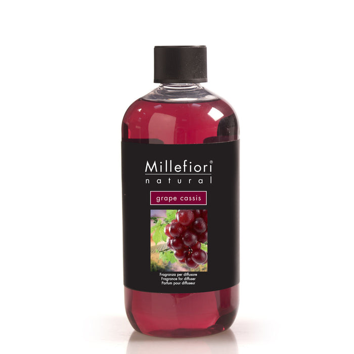 Milefiori Milano Refill For Stick Diffuser 500 ml Grape Cassis
