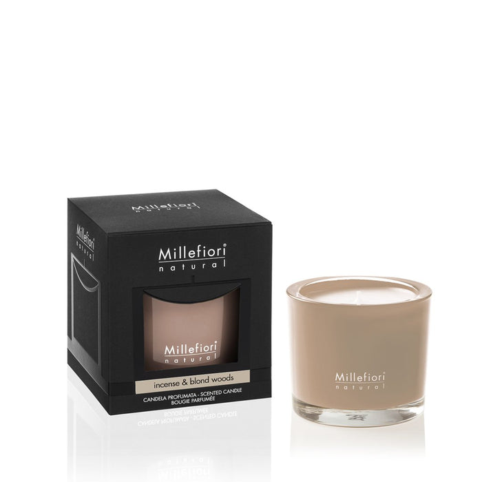 Milefiori Milano New Natural Scented Candle Incense & Blond Woods