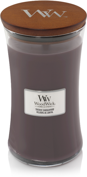 Woodwick Sueded Sandalwood Large Candle