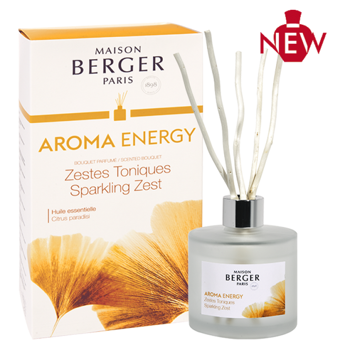 Maison Berger Paris  Aroma Energy Pre-filled Deco Reed Diffuser 180ml