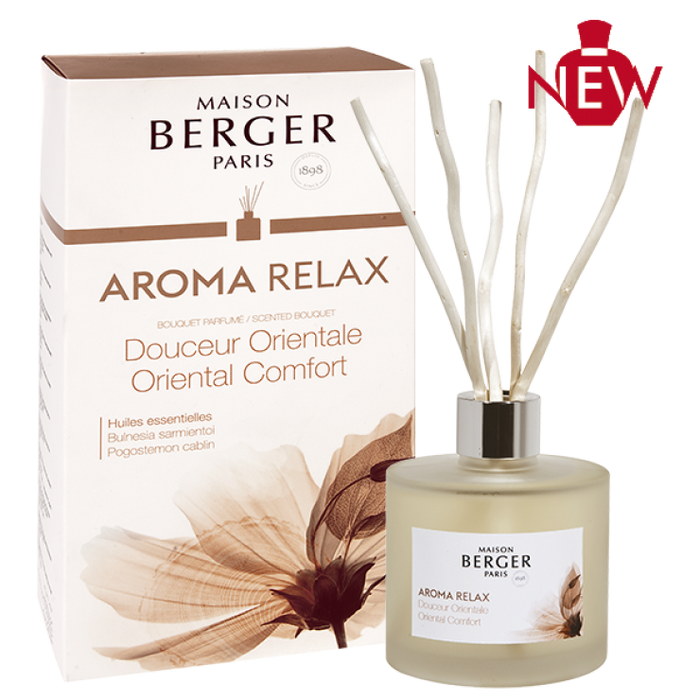 Maison Berger Paris Aroma Relax Pre-filled Deco Reed Diffuser 180ml