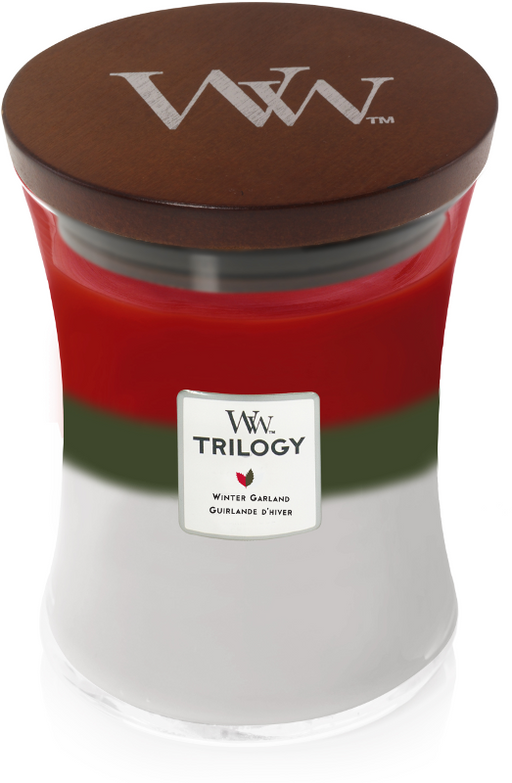 Woodwick Winter Garland  Trilogy Medium Candle